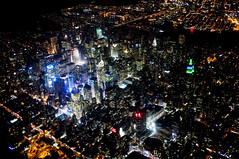Midtown (Dmitry Gudkov) Tags: skyline night dark evening glow view manhattan midtown timessquare airplanewindow usair usairways fujix100 shittiestairlineever