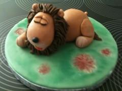 Sleepy Lion (Kageting.dk) Tags: cake lion caketopper modelling kage fondant fdselsdagskage sugarmodelling lorrainemckay