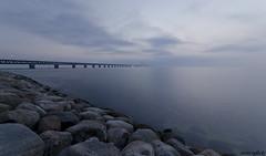 Oresunds Bridge (Oscar Oglecki) Tags: ocean bridge sea seascape fog denmark oscar nikon seascapes sweden danmark malm hav dimma d7000 oglecki