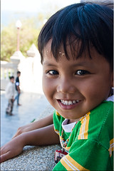Boy at the Temple (Ursula in Aus (Away)) Tags: boy portrait male thailand  prachuapkhirikhan  earthasia totallythailand  watthangsai