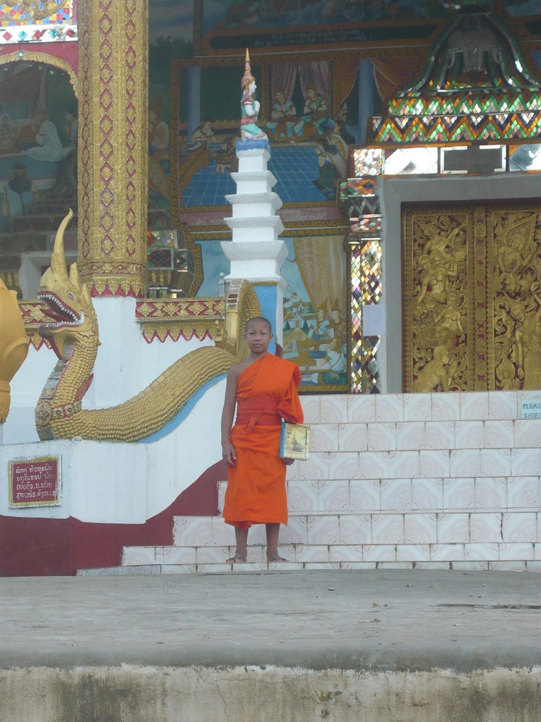 monk in Huay Xai, Laos