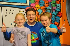 Dan with visitors to the Kids Clubhouse (Iowa Public Television) Tags: public television festival kids iowa clubhouse johnston iptv iowapublictelevision kidsclubhouse danwardell iptvfriends festival12 friendsofiptv festival2012