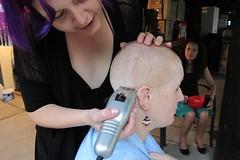 "Shave 2012 (Tanya in BNE) Tags: gonetomorrow shave2012march2012march""worldsgreatestshave""cancer""leukaemiafoundationshave""mehairheadshavedshavingbaldbaldness""hairtoday gonetomorrow"""