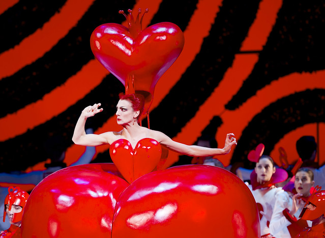 "Zenaida Yanowsky as the Red Queen in Christopher Wheeldon's Alice's Adventures in Wonderland. The Royal Ballet 2011 <a href=""http://www.roh.org.uk"" rel=""nofollow"">www.roh.org.uk</a> Photo: Johan Persson."