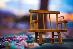 Miniature Beach (redaleka) Tags: wood shells art beach colors bench miniature wooden focus colorful dof bokeh small mini tiny tones aqaba