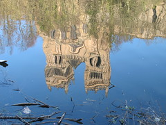 Durham City  -  Cathedral  ..... at  least a reflection of it in  the water! (billblender1) Tags: reflections river interesting melting durham cathedral wear c1100 nornan