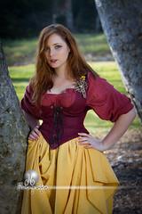 Katie Scarlett O'Brien the Wench (DB-Photography) Tags: irish girl costume pretty scottish corset redhair renaissance wench