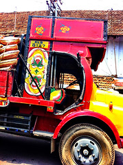 Spice truck (letsgoeverywhere) Tags: travel india holiday color colour indian kerala cochin kochi southindia iphone southasia spicetrade mattancherry indiantruck spicetruck iphoneonly indianspicetruck keralaspicetruck indianspicetrade