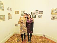 sol rossi vestida de otoño y julia dron (JuliaDron) Tags: night san gallery bs galeria diego carmen as