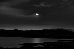 Lahontan Reservoir, Nevada, sunset b&w_022 (Walt Barnes) Tags: eve camping sunset sky blackandwhite bw lake storm mountains nature water night clouds canon eos evening blackwhite twilight scenery desert sundown dusk nevada stormy monotone hills recreation nightfall eventide lahontan 60d canoneos60d eos60d lahontanstaterecreationarea wdbones99