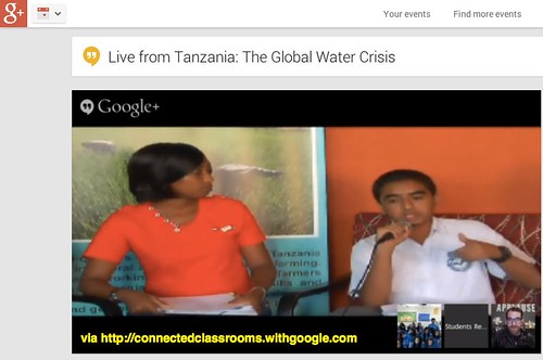 Live from Tanzania: The Global Water Cri by Wesley Fryer, on Flickr