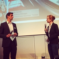 """#Pioneer marketing manager Sonja Gehlen: """"Connectivity is getting more important for car accessoire market. This is a big challenge for dealers - overall market is shrinking"""" ... . #tuning #twb #twb2014 #TuningWorld #TuningWorldBodensee #Bodensee #Germany (motorblog) Tags: germany tuning bodensee pioneer twb tuningworld tuningworldbodensee twb2014"""