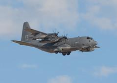 Lockheed Martin C-130E Hercules (Boushh_TFA) Tags: las vegas red usa nikon force martin flag air 300mm 09 ft af nikkor lockheed base f28 142 hercules c1