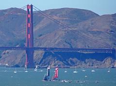 2013-09-15 09-22 Kalifornien 034 San Francisco, Bay, Americas Cup, Golden Gate Bridge