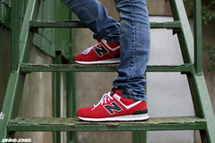 new balance 574 (thatgirlwiththekicks) Tags: red shoes sneakers trainers runners kicks newbalance 574 varsitypack