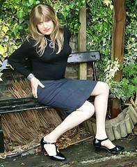 Sit Down Time (Amber :-)) Tags: pencil grey skirt crossdressing tgirl transvestite