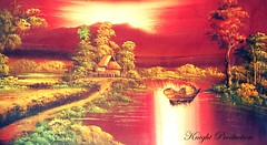 Beautiful Day (... Knight Production ...) Tags: trees red water painting boat beautifulday colorblast cableknight knightproduction