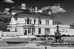 Mansion House. (Cycling Saint) Tags: blackandwhite monochrome sthelens merseyside victoriaparksthelens nikond750nikkor50mmg
