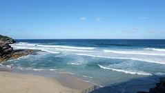 Beach (yipiplop) Tags: ocean blue sea sky beach water landscape sand rocks sydney australia nsw plage