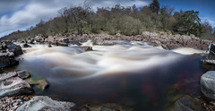 180 of Torrent (Justin Cameron) Tags: longexposure panorama water canon river waterfall rocks panoramic fisheye lee countydurham highforce teesdale ndfilter rivertees neutraldensity canonef1635mmf4lisusm canon5dmkiii leegraduatedfilter leebigstopper
