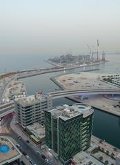 View towards the Persian Gulf (Francisco Anzola) Tags: bridge water marina buildings canal dubai uae unitedarabemirates persiangulf