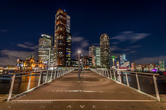 Rijnhavenbrug (Justin S Reid) Tags: city longexposure travel bridge blue light sky building netherlands colors architecture night clouds photography rotterdam long exposure cityscape nightscape 010 500px ifttt dierjscreensaver