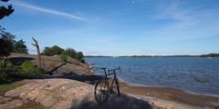2016 Bike 180: Day 141,  June 13 (olmofin) Tags: sea finland helsinki meri polkupyr hietaniemi pelago biicycle 918mm mzuiko 2016bike180