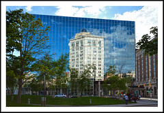 The New Reflects The Old in Grand Rapids, Michigan (sjb4photos) Tags: michigan grandrapids barnesthornburgbuilding