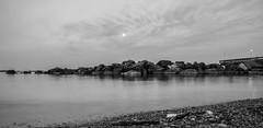 Lake (EllenYe) Tags: blackandwhite lake toronto ontario canada beautiful rock landscape island landscapes nikon timeexposure lakeshore d750 brige lightroom torontoislands 24120 24120f4
