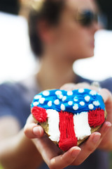 (candacepuleo) Tags: america memorial picnic cookie day flag