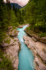 Emerald Beauty (billydorichards) Tags: wideangle landscape alpine nature water mountains julianalps vacation canon6d summerholiday rocks forests slovenia adventure plants river lakes trees greenery sky waterblur longexposure canon1635mmf4l blue wild soa tolmin si
