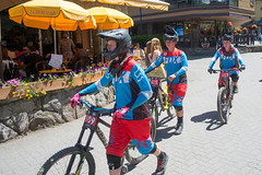 Downhill Boys (the underlord) Tags: mountain whistler village racing downhill fox mtb mountainbikes