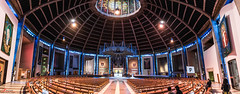 Liverpool Metropolitan Cathedral (_Hadock_) Tags: city uk inglaterra wallpaper england panorama building church architecture liverpool nikon god pano creative iglesia commons indoor full seats dome d750 inside hd tamron metropolitana metropolitan dios stich reino unido 270 panno comons