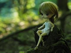 Oonagh (Saga) Tags: wood green forest dal lila queen full fairy groove pullip custom throne faerie oonagh