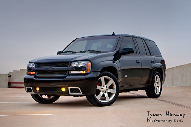 horse black car race drag power image ss stock performance chevy trailblazer 2007