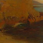 "<b>Marine</b><br/> Peter Nielsen (1873-1965) ""Marine"" Oil, n.d. LFAC #061<a href=""http://farm8.static.flickr.com/7206/6779984718_0735501bc4_o.jpg"" title=""High res"">∝</a>"