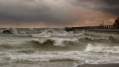 Lake Effect (~EvidencE~) Tags: leica sunset toronto waves windy lakeontario evidence waterworks 2012 feb24th leicadlux5 15cmofnosnow waves2metresbuildingto4