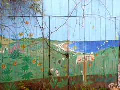 Fence Mural - coastal horizon (Room With A View) Tags: fence coast mural willits