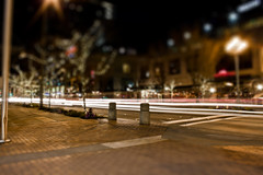 Light Trails in Bellevue (For The Nguyen Photography) Tags: longexposure canon eos rebel lights nightlights bokeh citylights lighttrails bellevue bellevuesquare tiltshift t1i