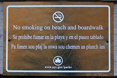 NoSmoke (JVierno77) Tags: ocean park city ny newyork texture beach sign canon rebel bay pier marine smoke weathered statenisland tobacco t3i 55250mm