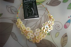 creamy Neck Adornment by Blackball Bling (BlackballBling) Tags: beads handmade buttons etsy blackball blackballbling currantlyoddfellows