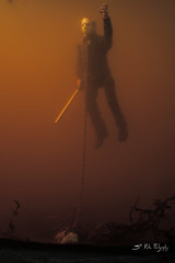 Leashed (3rd-Rate Photography) Tags: jason hockey canon movie toy 50mm underwater mask florida action 7d figure horror jacksonville fridaythe13th voorhees mezco toyphotography cinemaoffear earlware 3rdratephotography