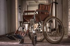 Classic (klickertrigger) Tags: urban abandoned dof bokeh decay wheelchair exploration destroyed ue verlassen kaputt urbex rollstuhl verfall