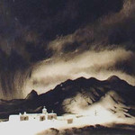"<b>Taos Mountain and the Penitentes</b><br/> Gene Kloss (1903-1996) ""Taos Mountain and the Penitentes"" Etching, n.d. LFAC #1997:08:13<a href=""http://farm8.static.flickr.com/7206/6852456541_219b636274_o.jpg"" title=""High res"">∝</a>"