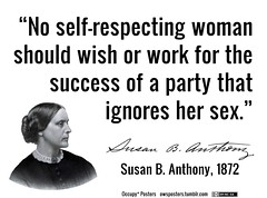 Susan B. Anthony Talks to Voters from the Grave