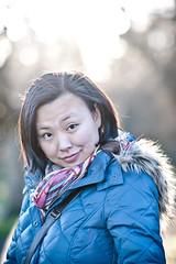 yan winter walk (pmac1985) Tags: china winter portrait people beautiful smile happy bigeyes nikon pretty dof bokeh chinese 85mm wife 85 14g d700 85mm14g