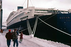 Cunard QE at Halifax NS 1957 (Jon Archibald) Tags: david nova elizabeth scan queen 1957 epson feb scotia rms halifax cunard archibald mcdougall v750