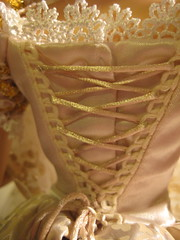 Laced Up Back of Dress Detail (scarlett1854) Tags: disney rapunzel tangled disneyprincess disneydoll limitededitiondoll tangledeverafter rapunzelwedding rapunzelshorthair