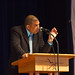 Luke Hartman speaks during Black History Month Chapel