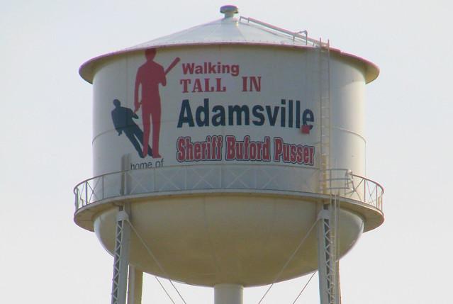 Walking Tall in Adamsville Water Tower